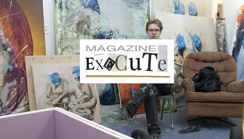 Bartosz Beda in his studio, execute magazine