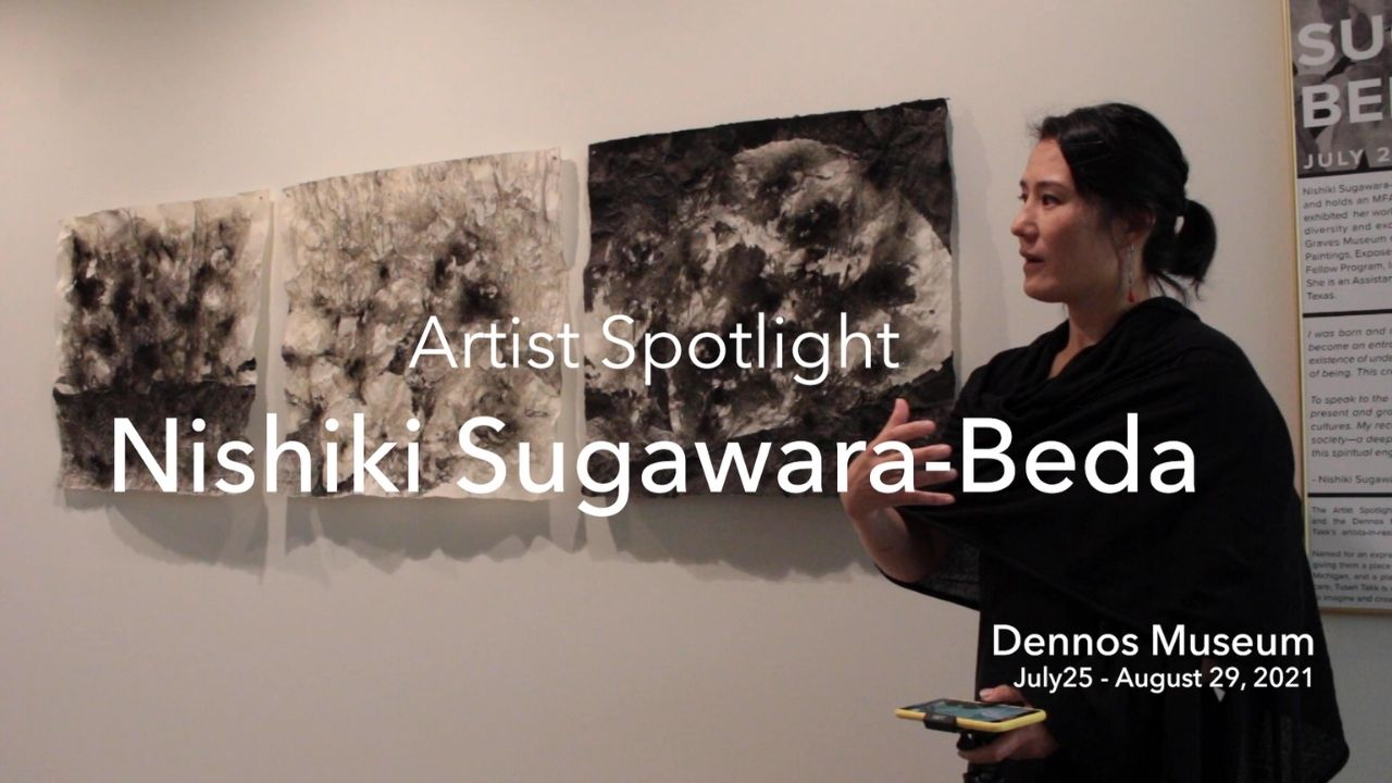 You are currently viewing Artist Spotlight Nishiki Sugawara-Beda at Dennos Museum Center Discussing Her Works